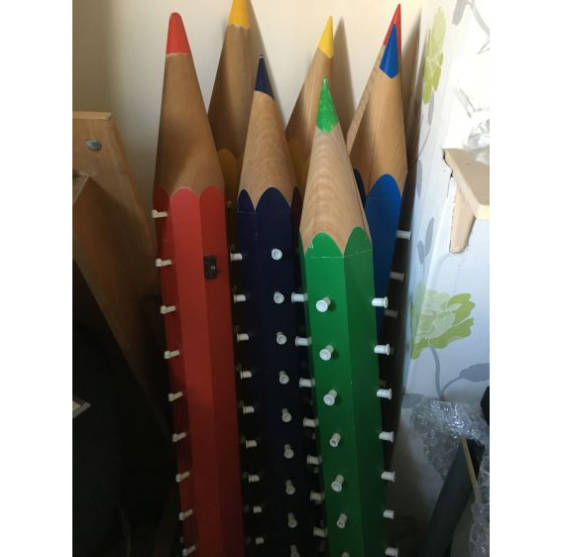 Children's pencil displays