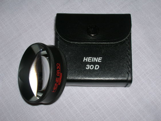 Indirect ophthalmoscopy lens, Heine +30 D