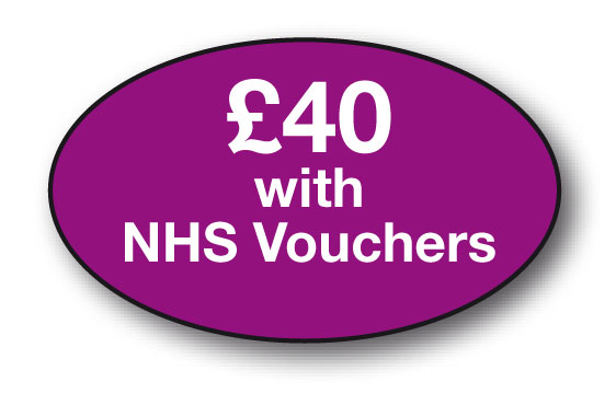 £40 with NHS voucher bx/250